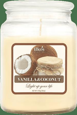 Ilkos Vonná svíčka Vanilla & Coconut, velká