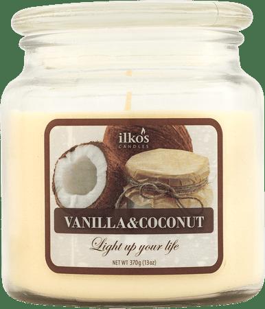 Ilkos Vonná svíčka Vanilla & Coconut, střední