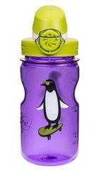 Nalgene plastenka OTF, otroška, 0,35 l, vijolična z motivom pingvina, zeleni pokrovček