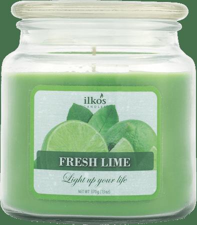 Ilkos Vonná svíčka Fresh Lime, střední