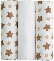 T-tomi BIO Bambusové plienky 3ks, béžové hviezdičky