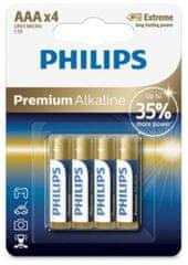 Philips baterije Premium Alkaline Blister AAA, 4 komada (LR03)
