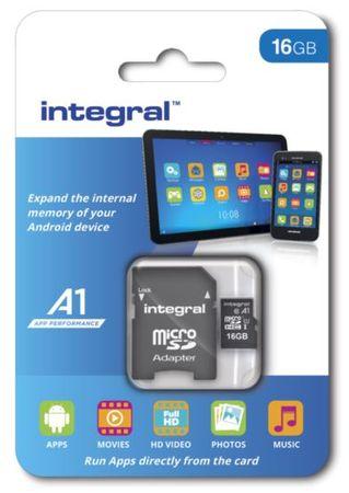 Integral memorijska kartica microSDHC 16GB A1 App Performance UHS-I