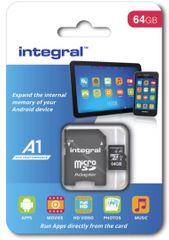 Integral memorijska kartica microSDHC 64GB A1 App Performance UHS-I