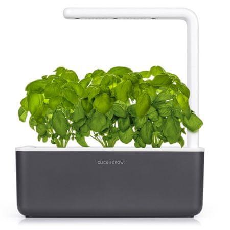 Click and Grow inteligentný kvetináč na pestovanie byliniek, zeleniny, kvetov a stromov - Smart Garden 3, sivá