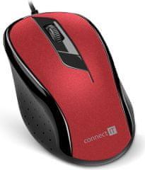 Connect IT optická myš, červená (CMO-1200-RD)