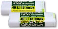 Piskar biorazgradive vrećice 40 L / 15 komada / 2kpl