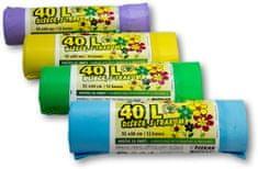 Piskar vrećice za smeće 40 L / 12 komada s trakom / 4 kpl