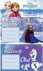Frozen etikete za bilježnice Frozen 10/1