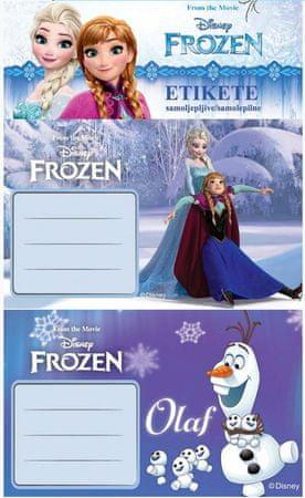 Frozen etiketa za zvezek Frozen 10/1