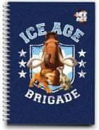 Disney beležka s spiralo A6 Ice Age, PVC platnice, 80 črtastih listov