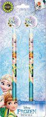 Frozen grafitni svinčnik z radirko, 2/1, blister