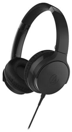 Audio-Technica słuchawki nauszne ATH-AR3iS, czarny