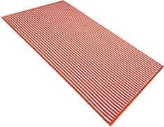Carbotex Plážová osuška Beach Waves Oranžová 90x170 cm