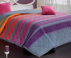 Carbotex Elle lila ágytakaró 220x240 + 2x 40x40 cm
