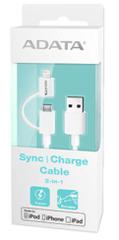 AData podatkovni kabel Lightning USB & microUSB MFi