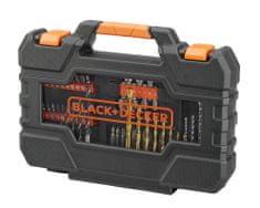 Black+Decker fúrókból és csavarokból álló 76 darabos készlet