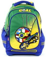 Target Školský batoh Goal modro-zelený