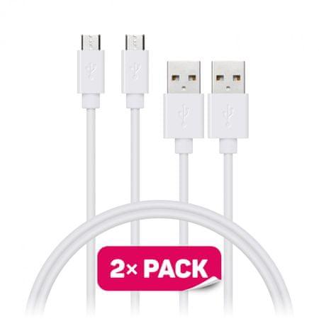 Connect IT Przewód Wirez (Micro-USB), biały