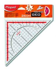 Maped geo trokut s držalom, 26 cm, blister