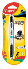 Maped kemični svinčnik Blister Twin Tip, 4-barvni, osnovne barve