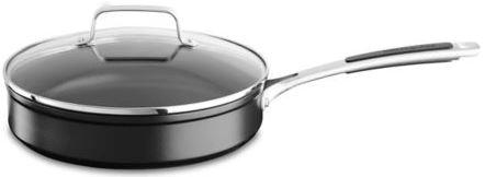 KitchenAid globoka ponev s pokrovom, premer 24 cm