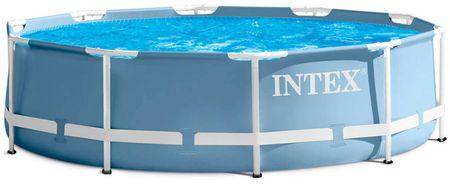 Intex bazen Prism Frame Set, 457 x 84 cm, s kartušno črpalko, lestev, podloga, prevleka (28728NP)