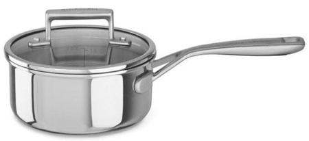 KitchenAid lončić s poklopcem i dugom ručkom, 16 cm