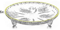 Previosa Talíř Pinwheel malý limet okraj, 6 ks