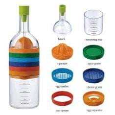 Kitchen Artist Cook Bottle steklenica z 8 zamenljivimi nastavki
