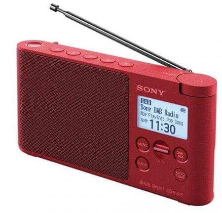 Sony XDR-S41DR, červená
