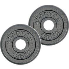 Spartan utezi od lijevanog željeza, 2 x 1,25 kg