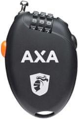 AXA Roll Retractable Cable 75 cm/1,6 mm, černá