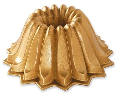 NordicWare Forma na bábovku, Lotus, zlatá