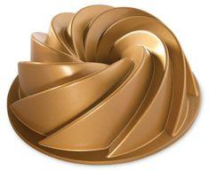 Nordic Ware Forma na bábovku, Rondo Heritage, zlatá