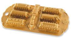 NordicWare Forma na pečenie, Polárny Express, zlatá