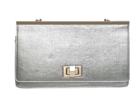 Juno ženska ročna torbica srebrna