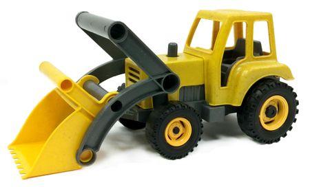 LENA Eco aktivní traktor - žlutý