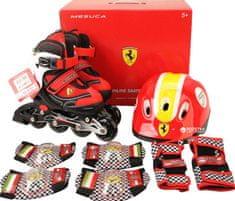 Ferrari InLine rolerji FK11-1 30-33 s ščitniki, rdeči