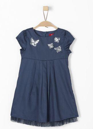 s.Oliver dívčí šaty 116 tmavě modrá
