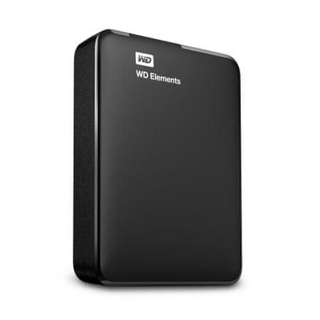 WD 2,5 zunanji trdi disk Elements™ Portable, 1,5TB, USB 3.0 (WDBU6Y0015BBK)