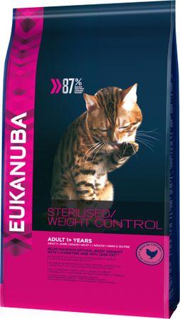 Eukanuba Cat Adult Weight Control Chicken Macskaeledel felnőtt macskáknak, 1,5 kg