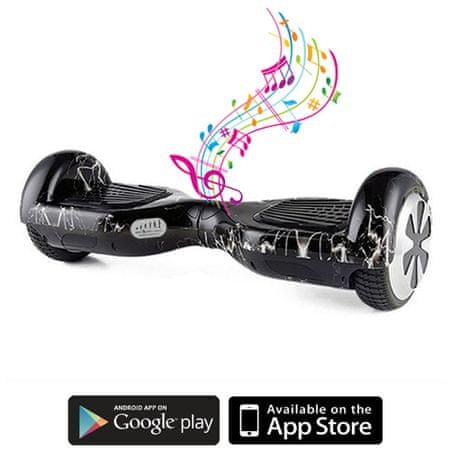 Kolonožka deskorolka elektryczna Standard z aplikacją mobilną i głośnikiem BT, Lightning
