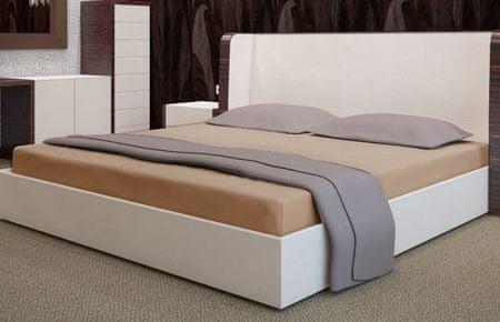 My Best Home Froté napínacia plachta na matrac 180x200 cm béžová
