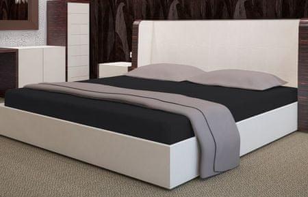 My Best Home Froté napínacia plachta na matrac 200x220 cm čierna