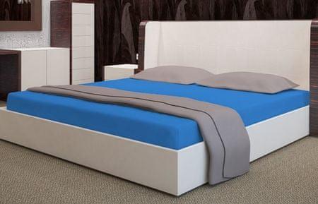 My Best Home Froté napínacia plachta na matrac 160x200 cm modrá