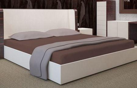 My Best Home Jersey napínacia plachta na matrac 180x200 cm hnedá