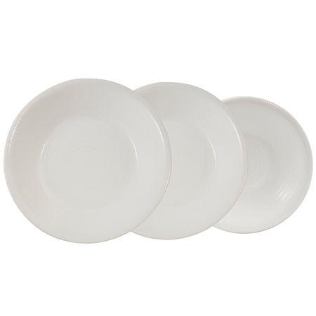 Pierre Cardin Fossil White set porcelanastih krožnikov, 18 kosov
