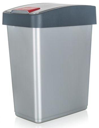 keeeper kosz na śmieci 25 l, 47,5 x 39,5 x 24 cm, szary
