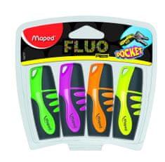 Maped marker Fluo Pocket, 4/1, blister